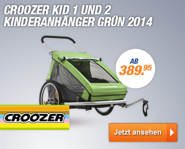 Croozer Kid 1 und 2 Kinderanh?nger Gr?n 2014