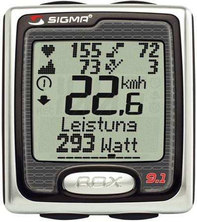 sigma sport rox 9 1 fahrradcomputer mit pulsmesser. Black Bedroom Furniture Sets. Home Design Ideas