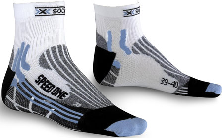 Speed One Lady Sportsocken Laufsocken Weiß/Blau
