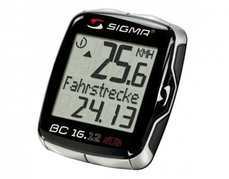 Fahrradcomputer Großes Display : Sigma sport bc 16.12 sts cad fahrradcomputer schwarz futurumshop.de