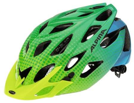 Alpina d alto fahrradhelm gelb gr n blau - Alpina gecko grun ...