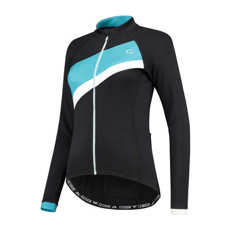 FUTURUM Jersey Long Sleeve Mara Black/Turquoise